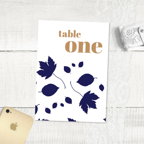 Autumn Leaves - Table Numbers