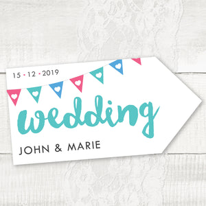 Bunting - Wedding Pointer Sign