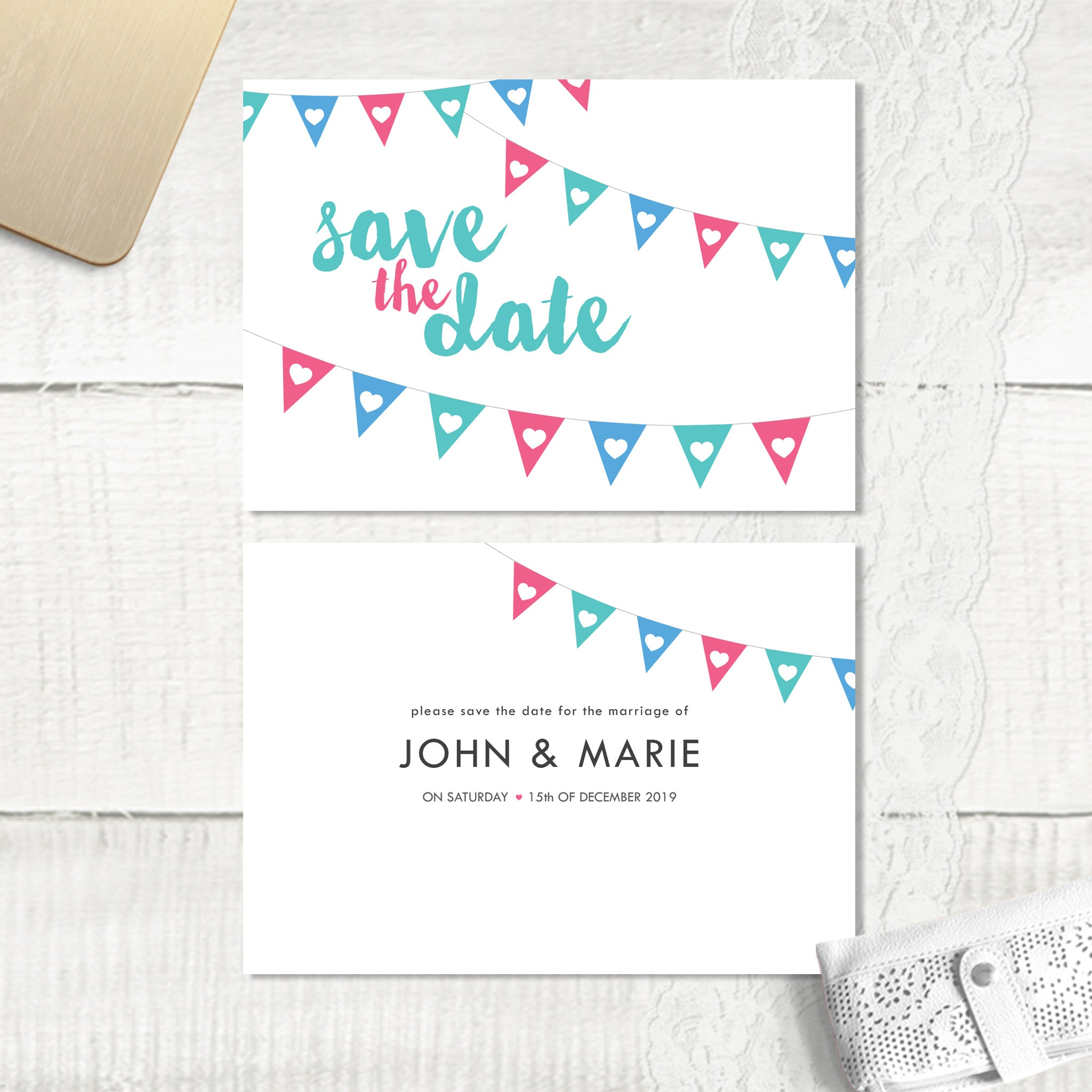 Bunting - Save the Date