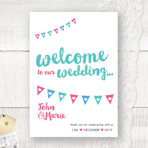 Bunting - Welcome Sign