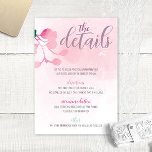 Cherry Blossom 2 - Guest Information Card