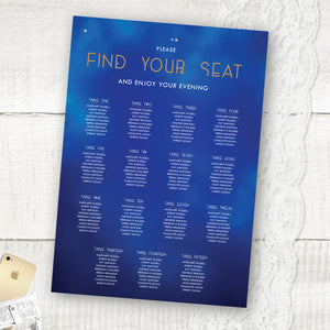 Midnight Blue - Seating Plan