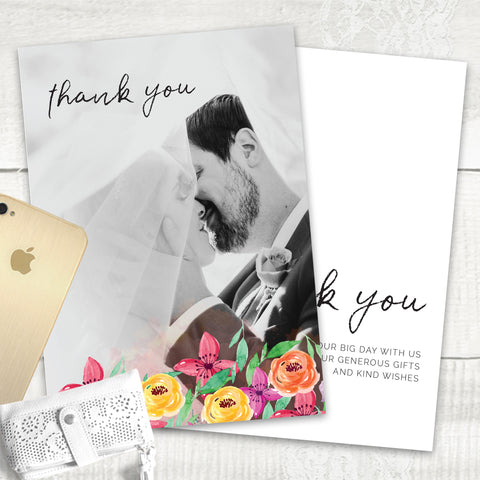 Colour Me Beautiful - Thank You Card