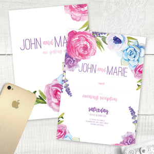 Fab Floral - Evening Invitation