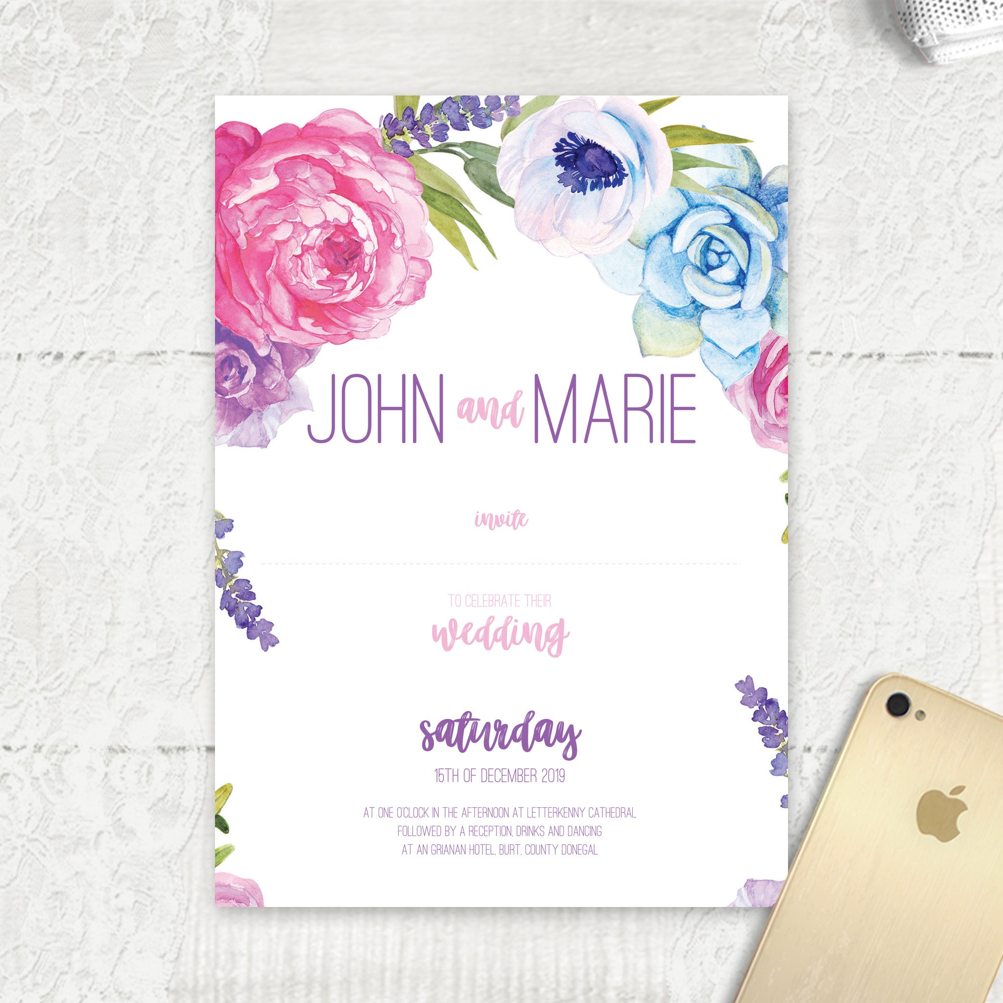 Fab Floral - Main Invite