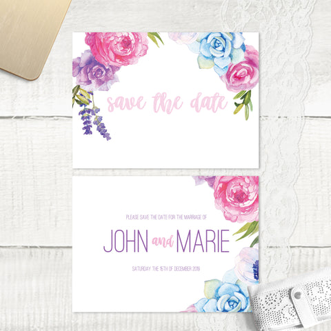 Fab Floral - Save the Date