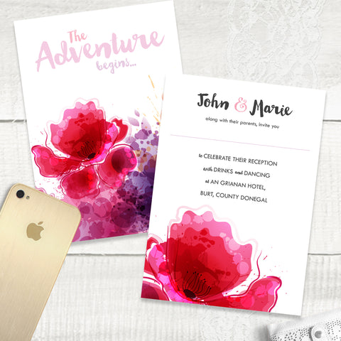 Floral Splash - Evening Invitation