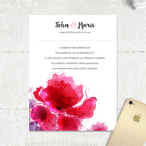 Floral Splash - Main Invite