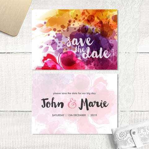 Floral Splash - Save the Date