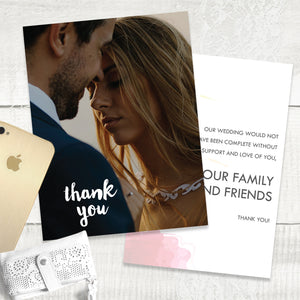 Floral Splash - Thank You Card