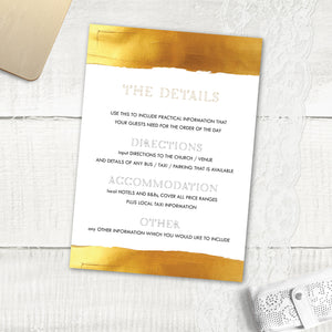 Gold Band - Guest Information Card