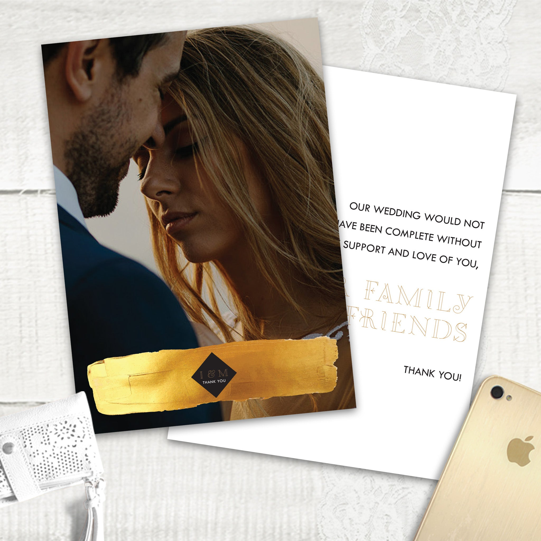 Gold Band - Thank You Card