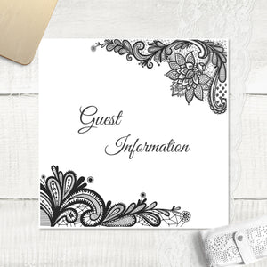 Simple Lace - Guest Information Card
