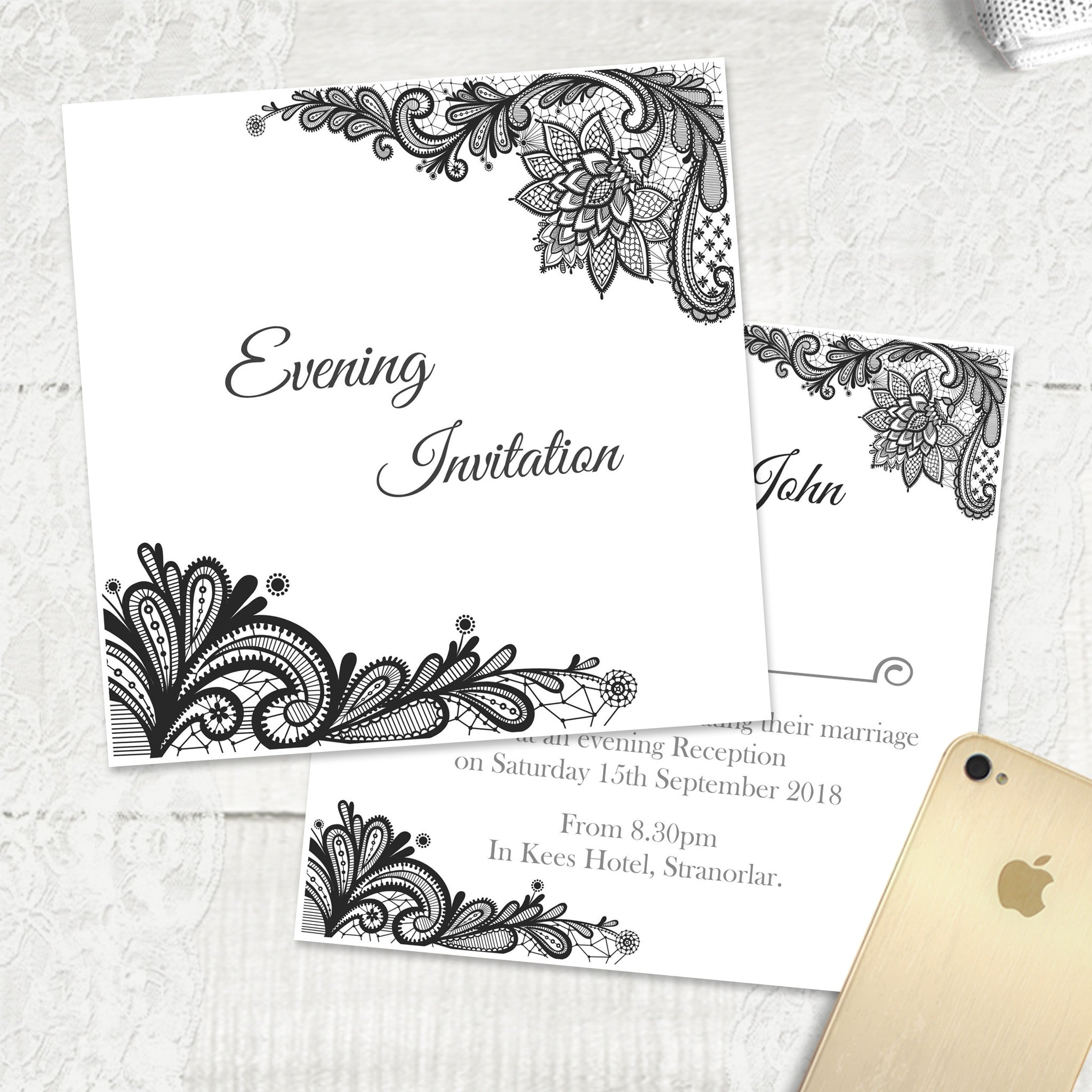 Simple Lace - Evening Invitation