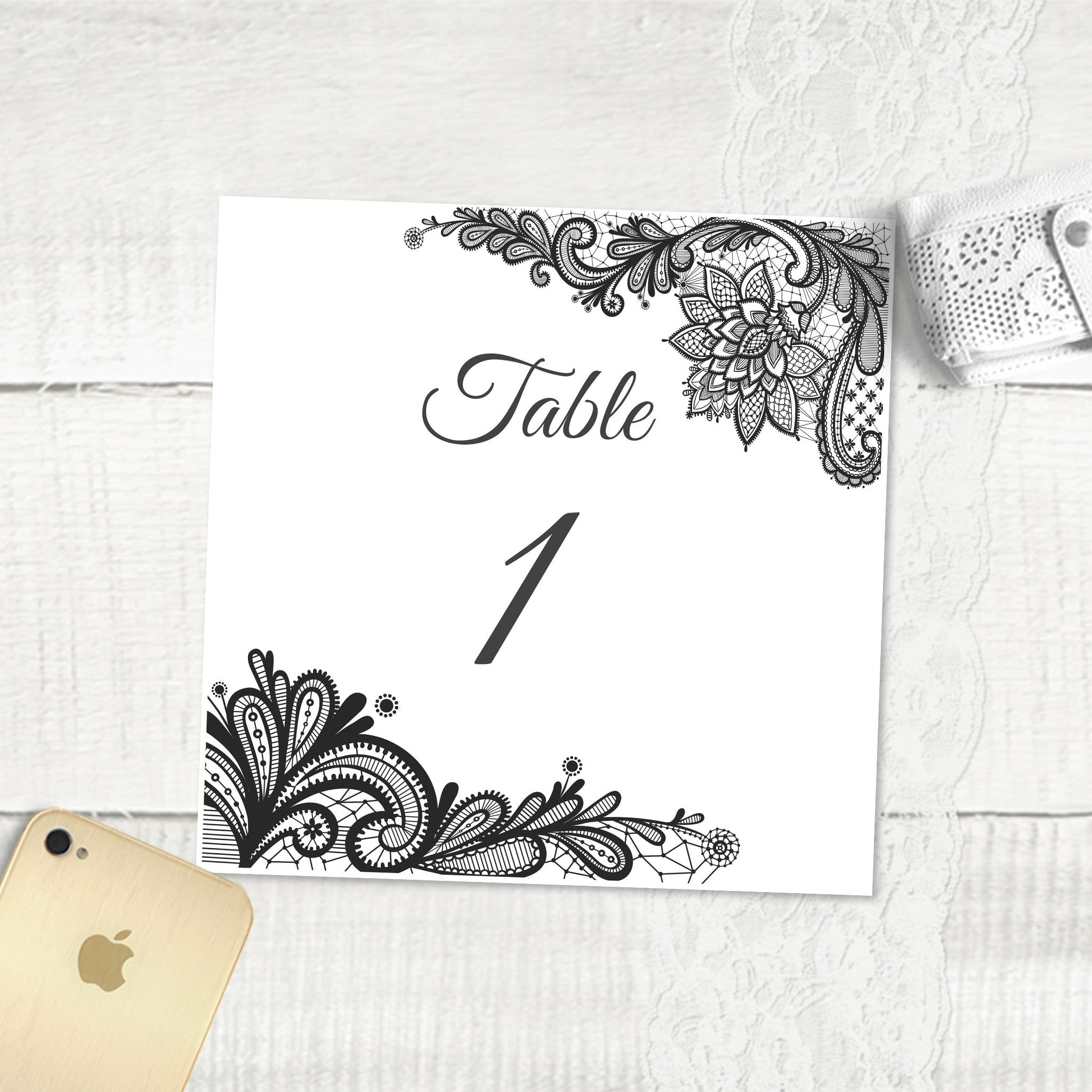 Simple Lace - Table Numbers