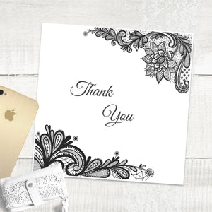 Simple Lace - Thank You Card