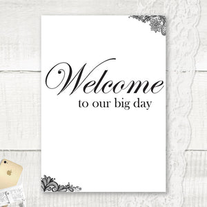 Simple Lace - Wedding Welcome Sign