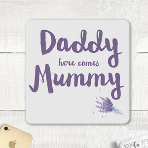 Personalised Pageboy or Flowergirl wedding signs Purple lavander