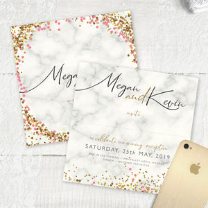 Marble Glitter - Evening Invitation