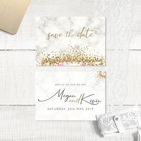 Marble Glitter - Save the Date