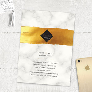 Gold Band Marble - Main Invite
