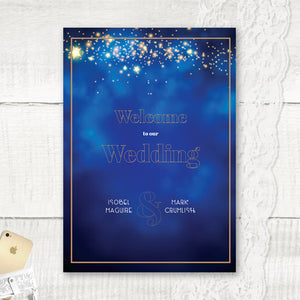 Midnight Blue - Welcome Sign