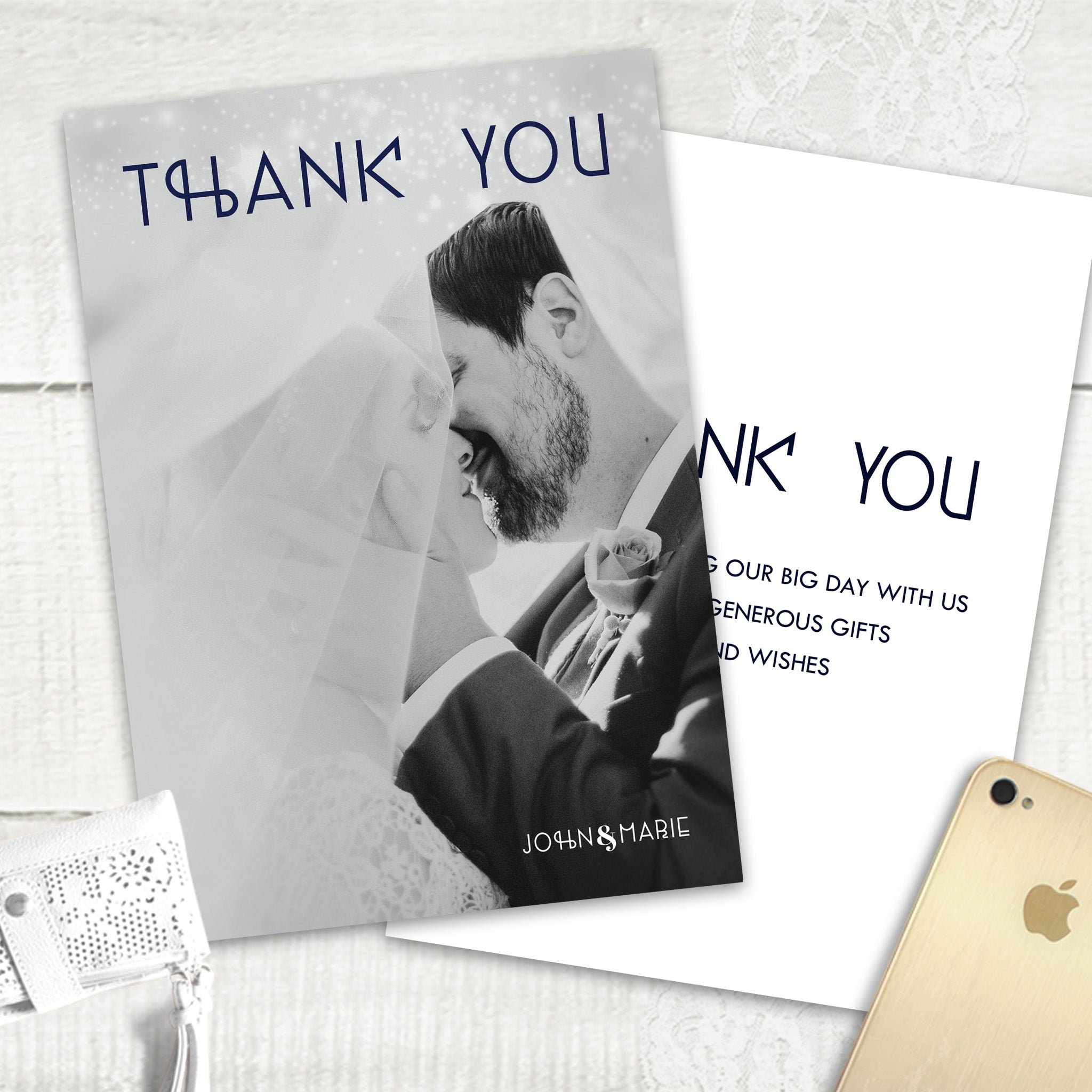 Midnight Blue - Thank You Card