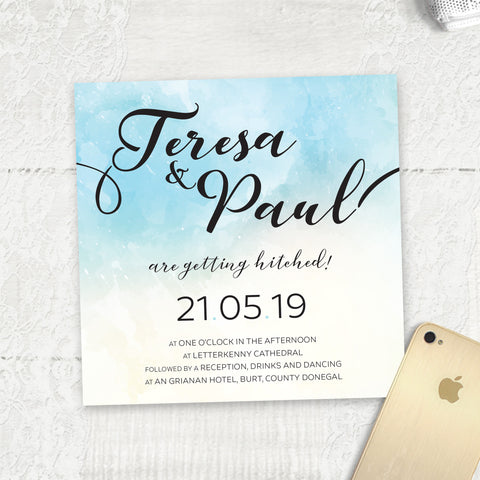 Ocean Blue Watercolour - Main Invite