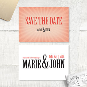 Red Vintage - Save the Date