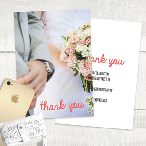 Red Vintage - Thank You Card