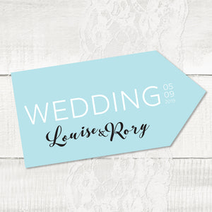 Rustic Elegance - Wedding Pointer Sign