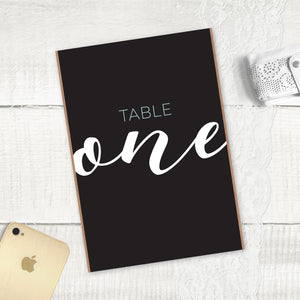 Rustic Elegance - Table Numbers