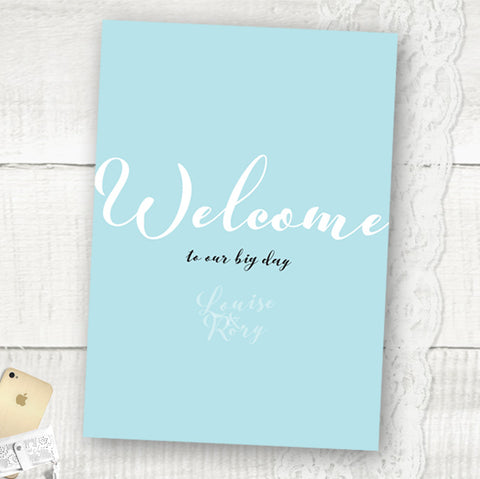 Rustic Elegance - Wedding Welcome Sign