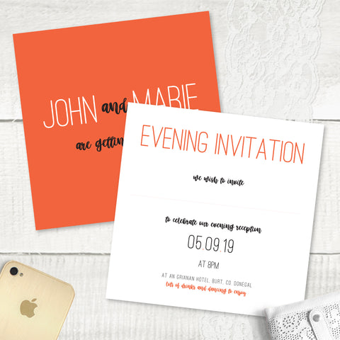 Rustic Love - Evening Invitation
