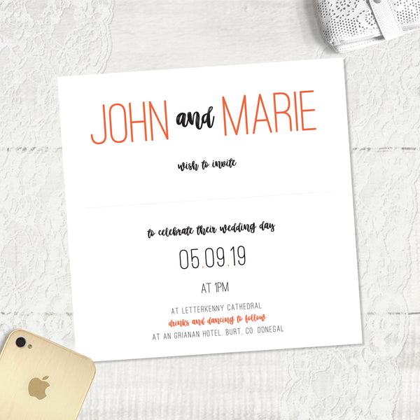 Rustic Love - Main Invite