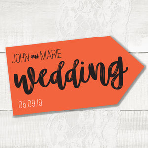 Rustic Love - Wedding Pointer Sign