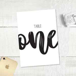 Rustic Love - Table Numbers