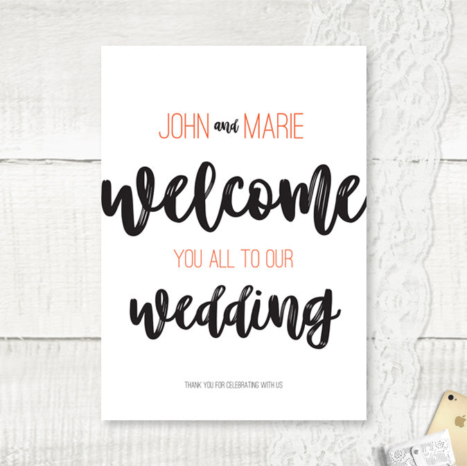 Rustic Love - Wedding Welcome Sign