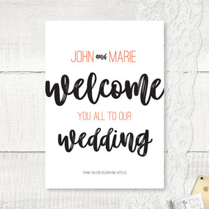 Rustic Love - Welcome Sign