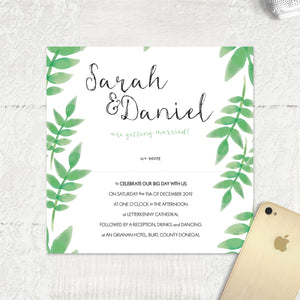Spring Leaves - Main Invite