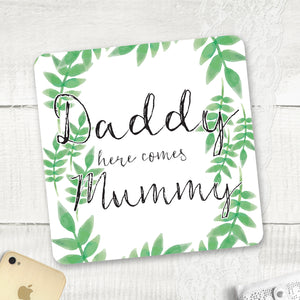 Spring Leaves - Page Boy / Flower Girl Sign