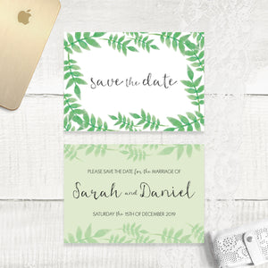 Spring Leaves - Save the Date