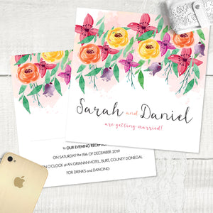 Summer Florals - Evening Invitation