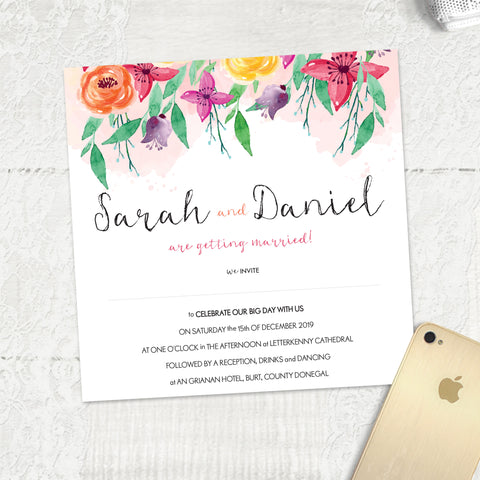 Summer Florals - Main Invite