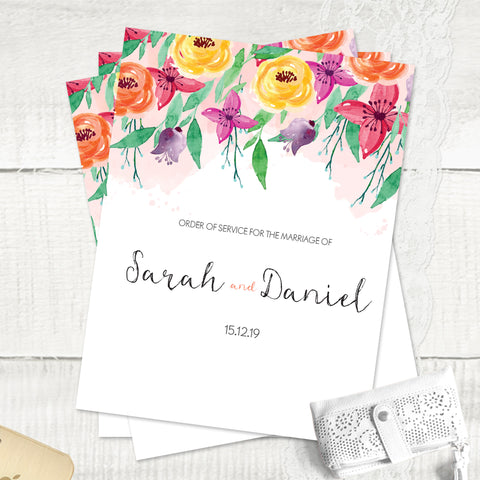 Summer Florals - Order Of Service