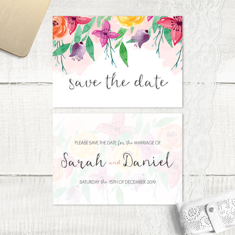 Summer Florals - Save the Date