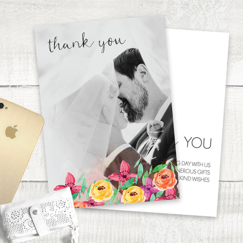 Summer Florals - Thank You Card