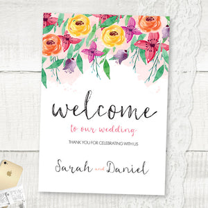 Summer Florals - Welcome Sign