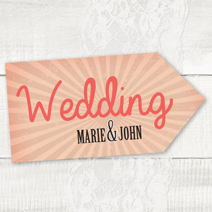 Red Vintage - Wedding Pointer Sign
