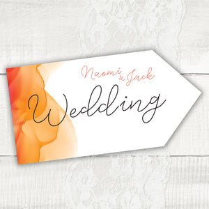 Watercolour - Wedding Pointer Sign